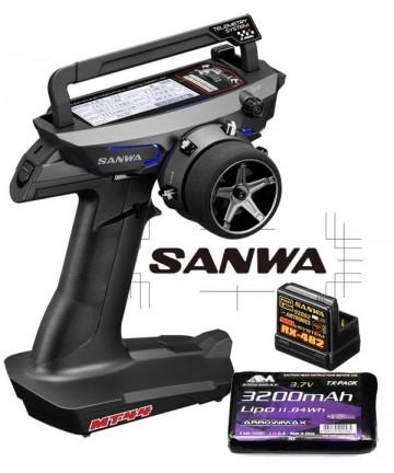 COMBO RADIO SANWA MT-44 PC...